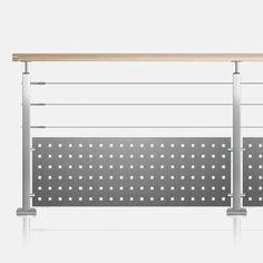 Le garde-corps inox à tôle et câble sur partie haute vous assure discrétion et sécurité maximale en créant un parement décoratif moderne et contemporain