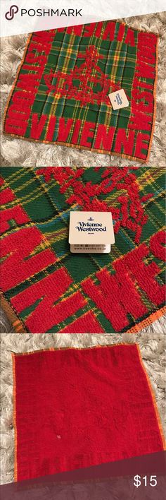 Authentic Vivienne Westwood Handkerchief Towel Red Used to collect Vivienne Westwood. I have in blue color as well. Please check out my other listing. No trade. Thank you Vivienne Westwood Other