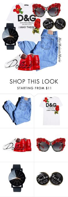 """Untitled #55"" by hermajestymarie on Polyvore featuring Levi's and Dolce&Gabbana"