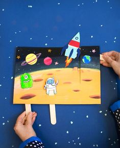 Captivating Outer Space Crafts for Kids that Are Truly Engaging Outer Space Crafts, Space Crafts For Kids, Diy For Kids, Space Party, Space Theme, Preschool Art, Preschool Activities, Diy And Crafts, Paper Crafts