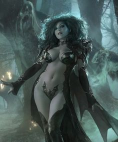 Vampire Queen Fantasy Art for LEGEND OF THE CRYPTIDS
