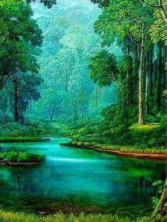 Fantasy Art Landscapes, Fantasy Landscape, Landscape Art, Landscape Paintings, Landscape Photography, Nature Photography, Beautiful Landscape Wallpaper, Scenery Wallpaper, Beautiful Paintings