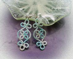 Tatting Earrings, Tatting Jewelry, Tatting Lace, Crochet Earrings, Tatting Patterns, Cross Stitch, Delicate, Crafty, Wool