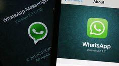 Tela de smartphone com ícone do WhatsApp