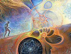 Adam Scott Miller - Akashic #ravenectar #visionaryart #art #trippy #psychedelic #sacred
