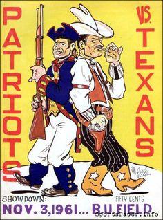 What are some of your favorite memories regarding the Boston Patriots? Texans Football, Football Art, Football Program, Vintage Football, School Football, Nfl Sports, Sports Art, Boston Sports, Sports Logos