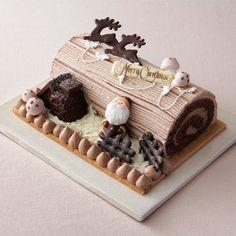 Creative Cake Decorating, Creative Cakes, Cake Decorating Techniques, Yule Log Cake, Cake Recipes, Dessert Recipes, Cute Desserts, Dessert Decoration, Christmas Cooking