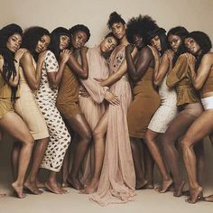 "Black women of all Shades  ❤️ There is no ""one way"" to be. We set our own beauty standards."