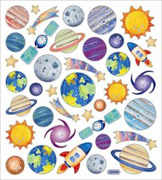 Sticker King - Clear Stickers - Planets