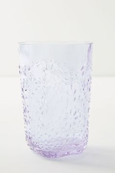 SIMPLY SHABBY CHIC PINK SWIRL GLASS TUMBLER DRINKING GLASS RACHEL ASHWELL New
