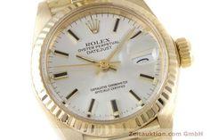 Rolex Lady Datejust 18k Gold Automatik Kal. 2030 Ref. 6917    153643 02