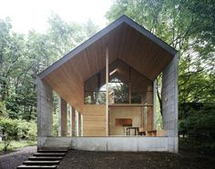 """Set within the forested region of Karuizawa, this weekend retreat was built by Iida Archiship Studio with a sense of true Japanese elegant minimalist design"""
