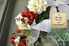 Sweet Inspirations by JP designs: Front Door Wreath... its a lil bit chippy!