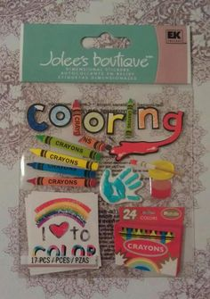 17 pc 3D Dimensional Stickers by Jolees Scrapbook by SuPrimaDonna, $3.50