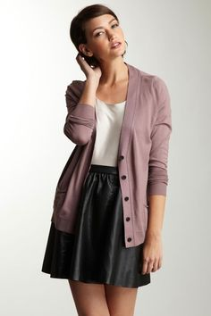 ADAM  Long Sleeve Cardigan... LOVE THIS LOOK!