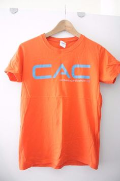 58866e55 Details about Mens CAC t-shirt Climbers Against Cancer size small orange tee  shirt top