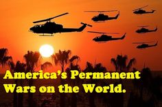 """Terrorists """"R"""" Us. Since WW II, """"there has not been a more warlike nation in the world than the USA."""" Waging war on terrorism """"gives govt a perpetual war and a perpetual atmosphere of repression."""" """"And it generates perpetual profits for corporations. """"Terrorism replaced communism as the rationale for the militarization of the country, for military adventures abroad, and for the suppression of civil liberties at home."""" http://www.thepeoplesvoice.org/TPV3/Voices.php/2013/04/23/terrorists-r-us"""