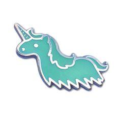 Unicorn Ghost - Glow in the Dark Enamel Pin