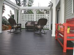 Pergola Attached To House Roof Pergola Attached To House, Deck With Pergola, Patio Roof, Pergola Patio, Small Deck Space, Deck Colors, Deck Makeover, Outdoor Spaces, Outdoor Decor