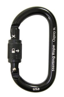The Osprey SL is a screwgate, oval-shaped carabiner. Crafted from high strength 7075-T6 aluminum, the Osprey is strong and lightweight. The oval-shape helps center loads on the carabiner and is a good choice for aid climbing and high angle rescue.Screwgate carabiners have a barrel that moves vertically on a threaded gate. When closed the barrel creates a secure connection between the carabiner and top of the gate, locking the carabiner closed. Screwgate carabiners can come open and should be…