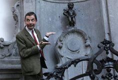 Manneken-pis with Mr. Bean