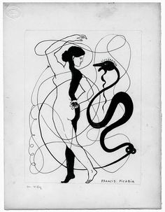 sotlylaisse: FRANCIS PICABIA Tagged: picabia francis picabia dada snake art drawing