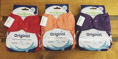 The NEW bumGenius 5.0s are in stock and ready to ship! We're crushin' on these new colors. <3 Pepper, Kiss, and Jelly- which is your favorite?? #clothdiapers