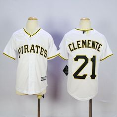 855985a39b6 Youth MLB Pittsburgh Pirates 21 Roberto Clemente White 2015 Jerseys