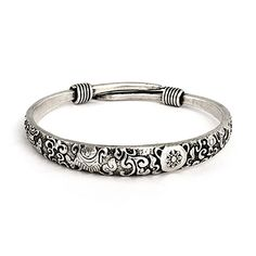 You'll love this Bali Bangle Bracelet with Elaborate Scrollwork Design! Wear alone or stacked with other bracelets! The Bangles, Metal Bracelets, Silver Bracelets, Bangle Bracelets, Silver Earrings, Silver Ring, Beaded Bracelet, Spoon Jewelry, Sea Glass Jewelry