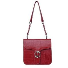 Passion Faux Leather Cross Body Red Messenger Handbag $39.95