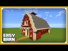 Minecraft: How To Build A Barn House Tutorial (Easy Survival Minecraft House) - YouTube