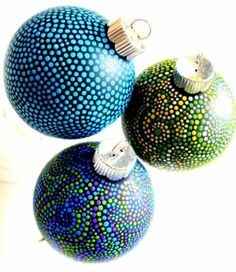 Diy ornaments 219128338088729702 - Christmas ornaments with hand-painted dots. Or anything else with hand-painted dots. Source by lisabovitch Handmade Ornaments, Diy Christmas Ornaments, Christmas Projects, Holiday Crafts, Holiday Fun, Hand Painted Ornaments, Ornament Crafts, Christmas Ideas, Noel Christmas