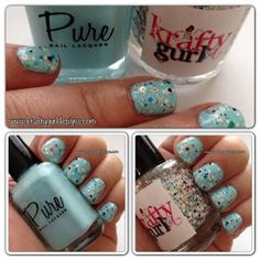 Nail Art for Short Nails Krafty Gurl: Swatch from Pure Nail Lacquers - Sea Breeze