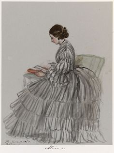 Princess Alice of the United Kingdom as drawn by her mother, Queen Victoria