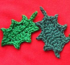 Jolly Holly Leaves: free crochet pattern