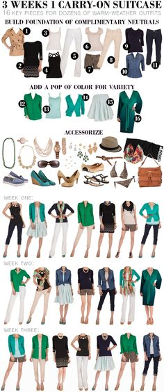 Follow these fabulous fashion tips for travel! Could you pack 3 weeks 1 carry-on suitcase?