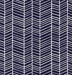 Joel Dewberry Herringbone in Lake Fabric - Blue Navy Herringbone - Modern Meadow - 1 Yard
