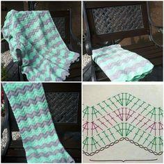 #Crochet #blanket #forchildren #kocyk #zygzak #szydelko #koc