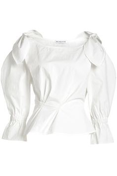 REJINA PYO Cotton Blouse with Bow Detail - AVAILABLE HERE: http://rstyle.me/n/cpxzgwbcukx