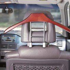 Hang your jacket up in the car, keeping the jacket clean and the car organized. Need this for my coat.