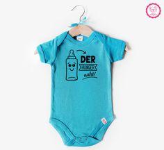 Babykleidung - Babybody blau mit Babyflasche - ein Designerstück von naehfein-berlin bei DaWanda Bodysuit, Berlin, Onesies, Unisex, Babys, Muffin, Kids, Etsy, Fashion
