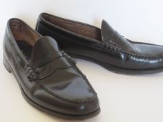 """'Weejuns' ~ 1950′s men's penny loafers by G.H. Bass"""""""