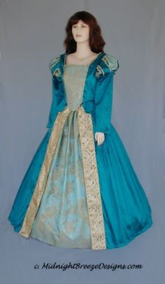 CUSTOM-Ladies-Renaissance-Mardi-Gras-Dress-Gown-Costume-Your-Size-and-Colors