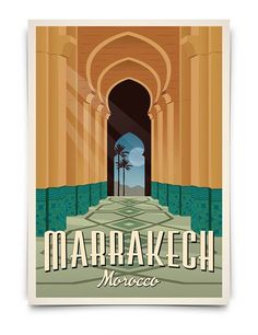 Marrakech Vintage Travel Poster, Travel, Morocco, Decoration, Wall Art Graphic Home Design on Etsy Art Vintage, Photo Vintage, Art Deco Posters, Vintage Travel Posters, Vintage Ads, Marrakech Morocco, Marrakesh, Gig Poster, Poster Prints