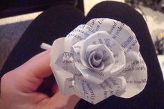 Geeky Crafting: Paper Flowers could use books/newspaper/movie scripts
