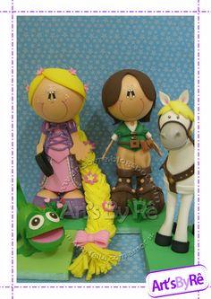 fofuchas Enredados (rapunzel) | pinkstar Rapunzel Birthday Party, Disney Tangled, Princesas Disney, Ideas Para, Biscuit, Presents, Baby Shower, Kawaii, Diy Crafts