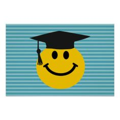 Graduate smiley face print the tasselwas worth the hassle