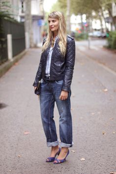 Zoe Macaron wearing her Comptoir des Cotonniers biker jacket