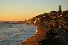viña reñaca Chile, San Francisco Skyline, Sunset, Beach, Water, Happy, Travel, Outdoor, Founding Fathers