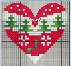 Points de croix *♥* Cross stitch Heart 7